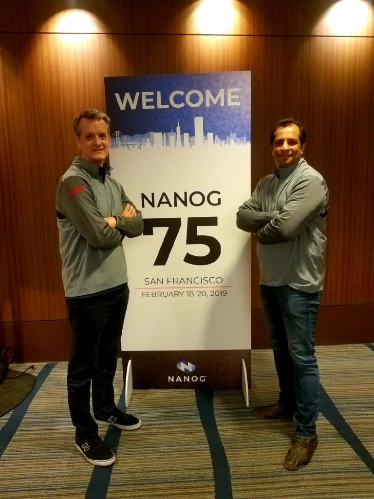 Clint and Vinay, NANOG 75